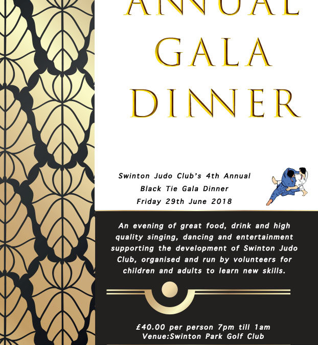 Annual Black Tie Gala Dinner At Swinton Golf Club